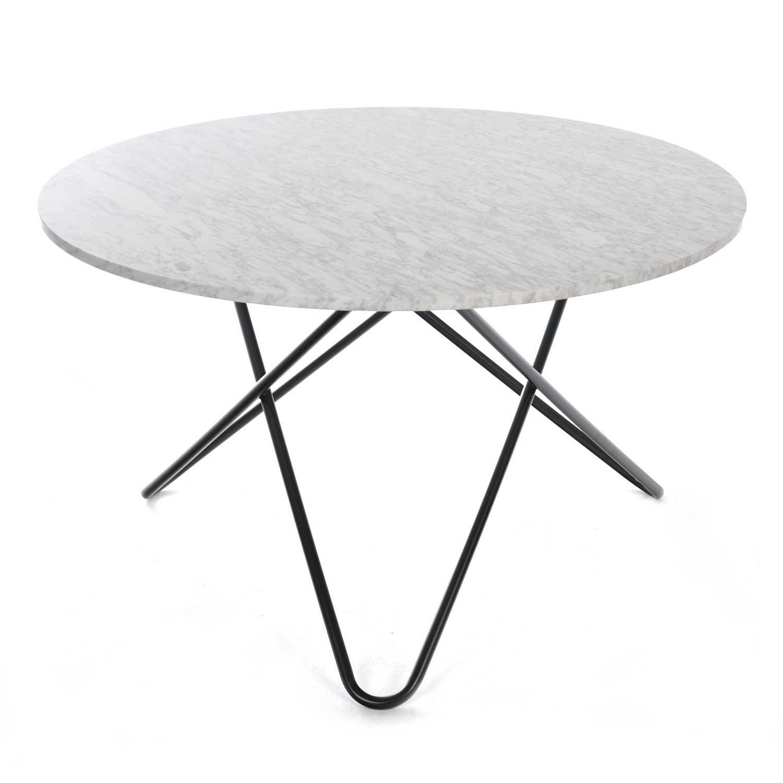 Picture of: Big O Spisebord Hvid Marmor Sort Ox Denmarq Royaldesign Dk