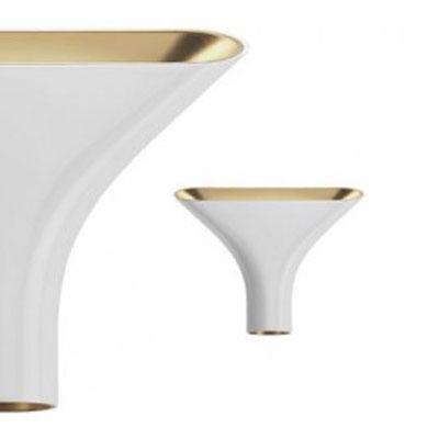 tau lampe hvid guld rodolfo dordini flos. Black Bedroom Furniture Sets. Home Design Ideas