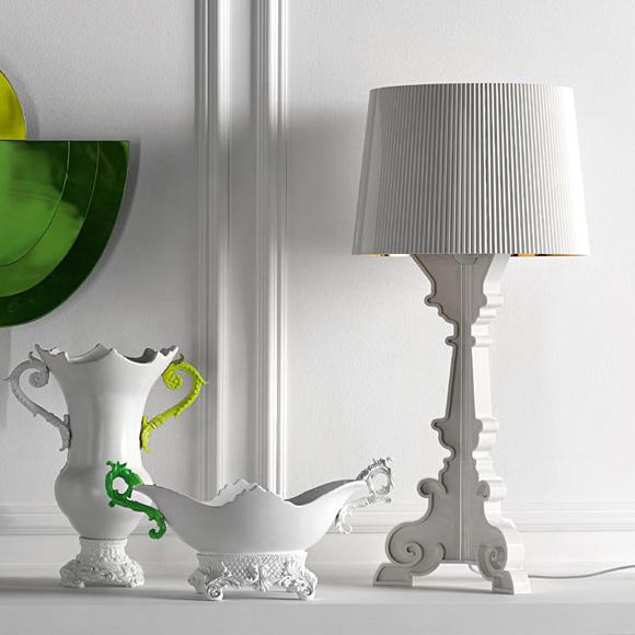 kartell lampe hvid
