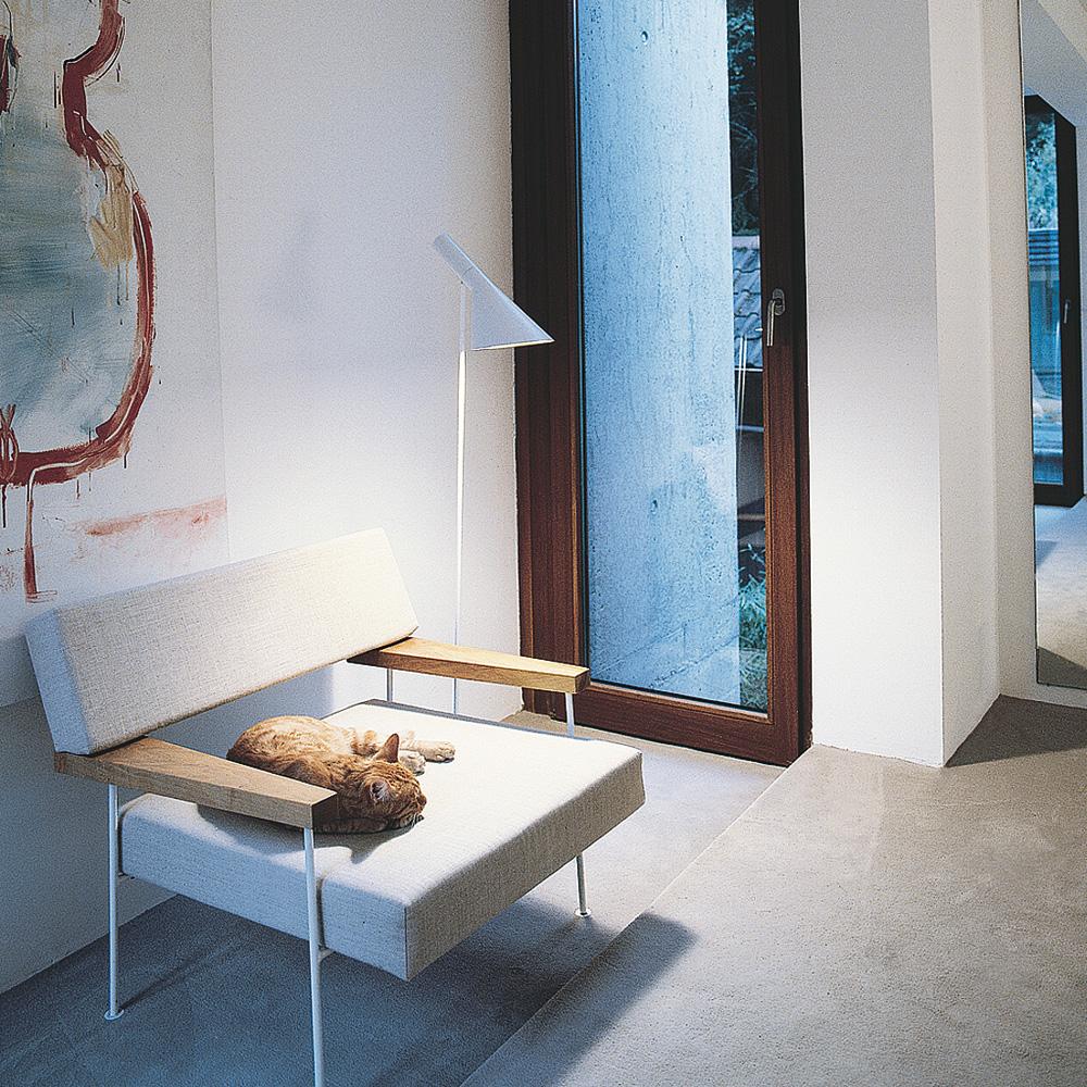 AJ Gulvlampe, Hvid - Arne Jacobsen - Louis Poulsen - RoyalDesign.dk