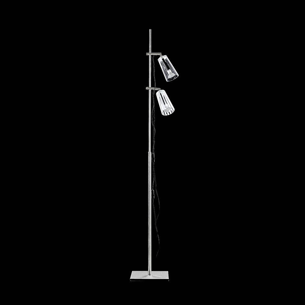 Manhattan Gulvlampe 2 lamper, Frost