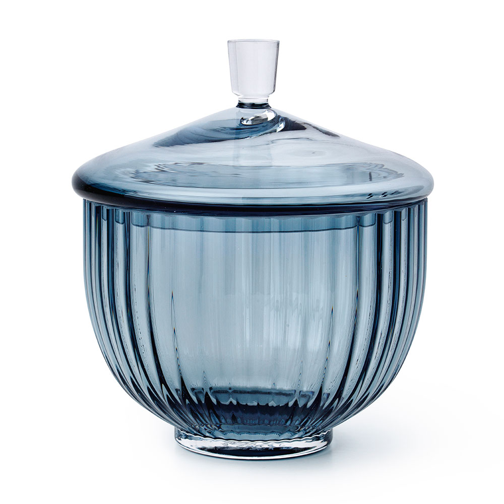 Bonbonniere Glas Ø14cm, Blå