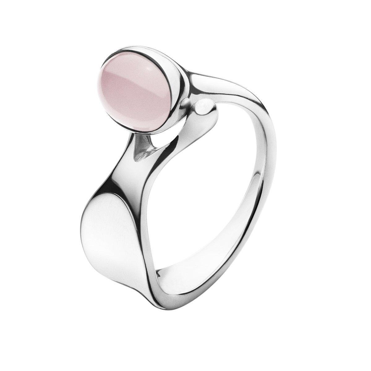 Dew Drop Ring, Lyserød Quartz