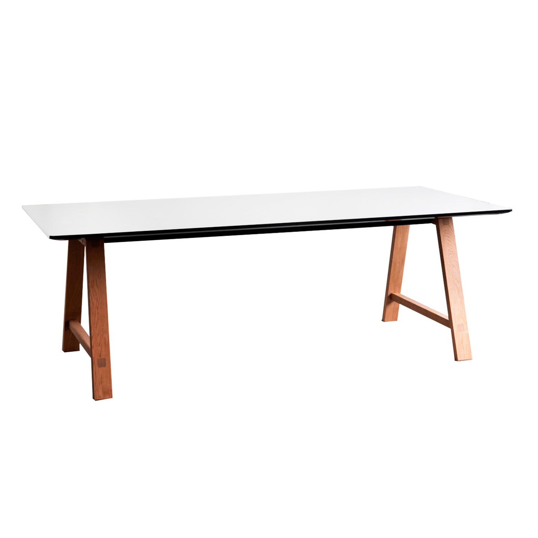 T1 Spisebord 95x220cm, Olieret Eg/Hvid Laminat - byKATO - Andersen ...
