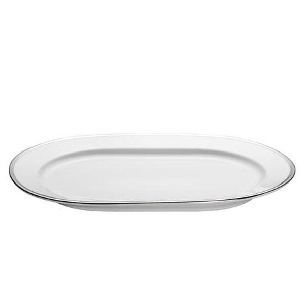 Bord Platine Sancerre Fad 32 cm, Hvid/Sølv